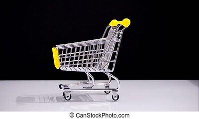 buy orange shop cart. Healthy diet. Stop motion. timelapse...