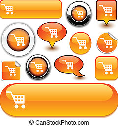 Buy orange signs. - Buy vector glossy icons.