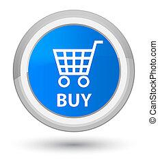 Buy prime cyan blue round button