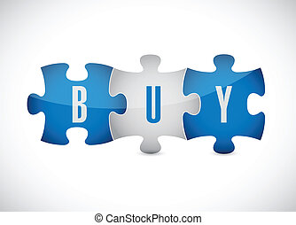 buy puzzle pieces illustration design
