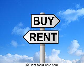 Buy Rent Sign