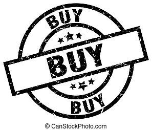 buy round grunge black stamp