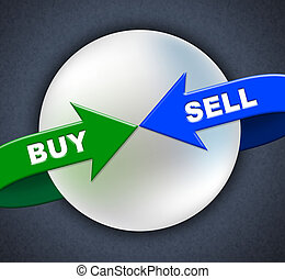 Buy Sell Arrows Shows Retail Purchase And Shop - Buy Sell ...