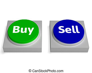 Buy Sell Buttons Shows Buying Or Selling
