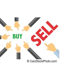 buy, sell - buying selling concept illustration - sell, buy...