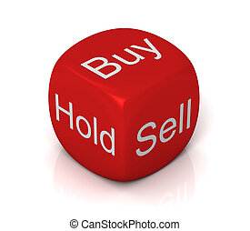buy sell hold cube concept illustration