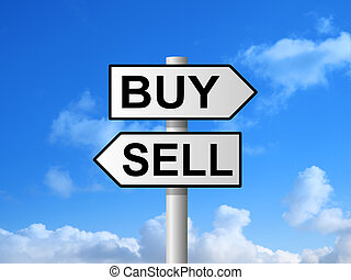 Buy Sell Signpost