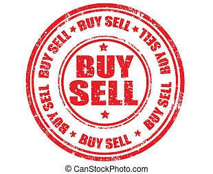 Buy sell stamp - Rubber stamp with the text buy sell written...