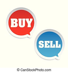 Buy Sell trading tag vector
