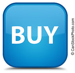Buy special cyan blue square button