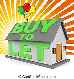 Buy To Let Meaning Landlord Buying 3d Rendering - Buy To Let...