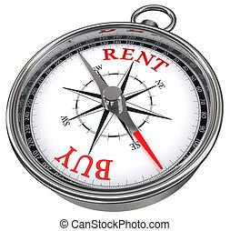 buy versus rent concept compass