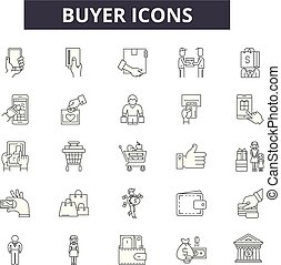 Buyer line icons for web and mobile design. Editable stroke ...