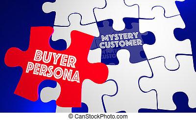 Buyer Persona Puzzle Piece Customer Profile 3d Illustration