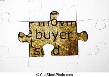 Buyer puzzle concept