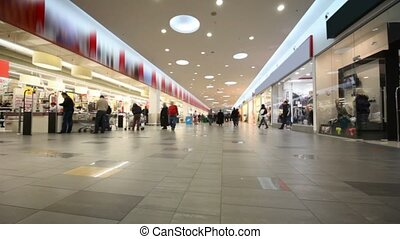 buyers going in big mall shop