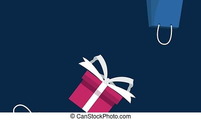 Buying a gift box HD animation - Hand buying gift with...