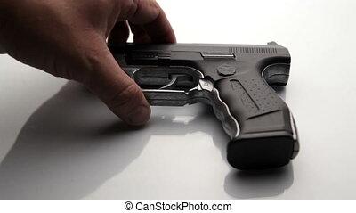 Buying a gun - concept of arms deal