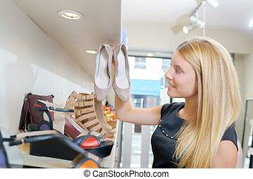 Buying a pair of shoes
