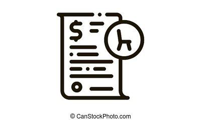 buying agreement Icon Animation. black buying agreement animated icon on white background