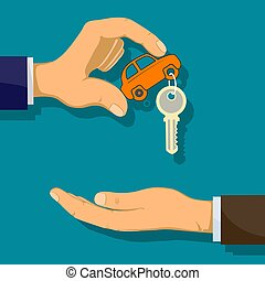 Man holds car key