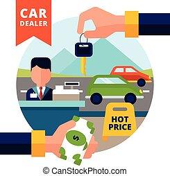 Buying Car Illustration