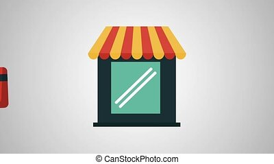 Businessman Buying In Store Hd Animation Businessman Buying In Store With Credit Card And Cash High Definition Animation