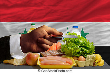buying groceries with credit card in iraq