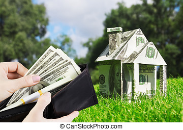 buying home loans - Concept picture on money for new housing