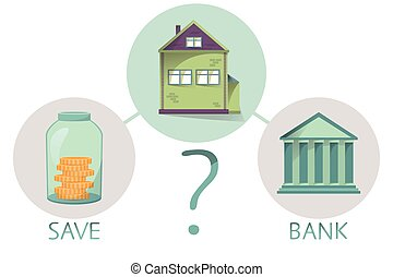 Buying house and property, save money or go to bank, making...