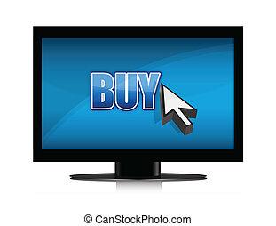 buying in tv illustration design