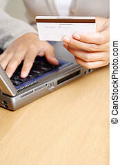 Buying online - A businesswoman making an online purchase