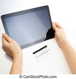 Buying with credit card via tablet