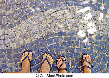 buzios, foots, 通り, brazil.