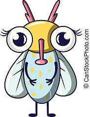 Buzz fly icon. Cartoon illustration of buzz fly vector icon for web