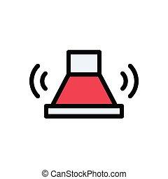 buzzer  flat color icon