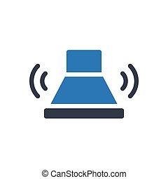 buzzer glyph color icon
