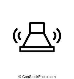 buzzer  thin line icon