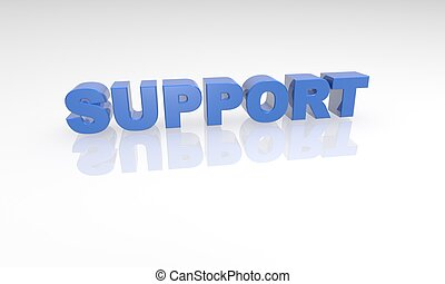 buzzword 3d support blue text