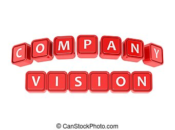 Buzzword Company Vision - Rendered artwork with white...