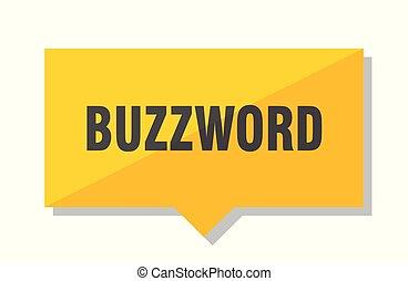 buzzword price tag - buzzword yellow square price tag