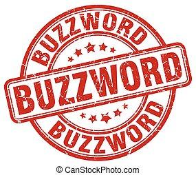 buzzword red grunge stamp