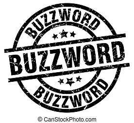 buzzword round grunge black stamp