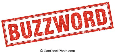 buzzword square stamp