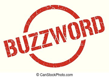 buzzword stamp - buzzword red round stamp