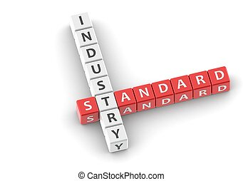 Buzzwords: industry standard - Red rendered artwork with...