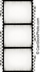 BW film strip - designed empty film strip with added grain