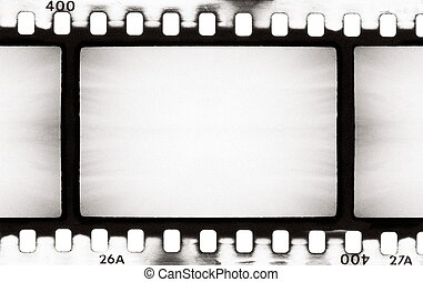 BW film strip - empty film strip, may use as a background