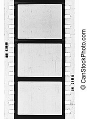 BW film strip - empty film strip, may use as a background