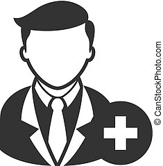 BW icon - Add team member - Businessman with plus sign icon...